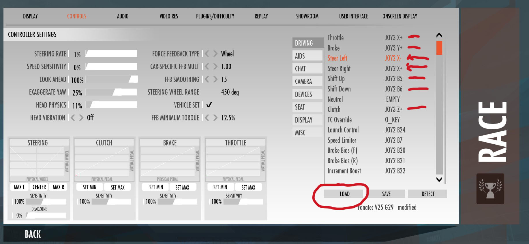 SOLVED] - G29 rotation bug still present, why???   Studio-397 Forum