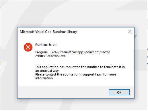 SOLVED] - rFactor 2 crashing on startup  | Studio-397 Forum